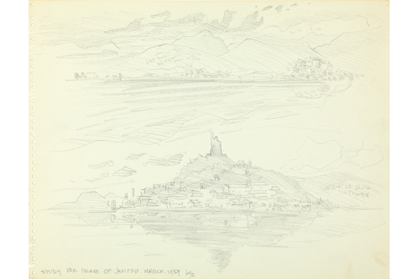 Study for Island of Janizio, Mexico
