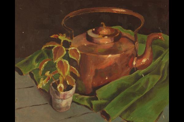 Untitled (Copper tea kettle)