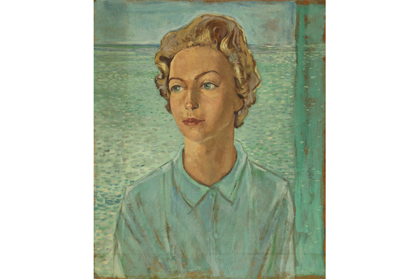 Untitled (Portrait of a woman with turquoise top)