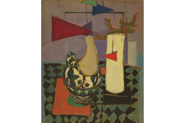 Untitled (Still life and abstract forms)