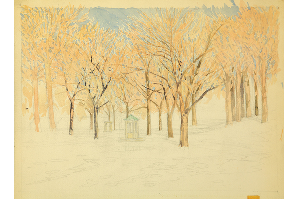 Untitled (Willistead trees with fountain)