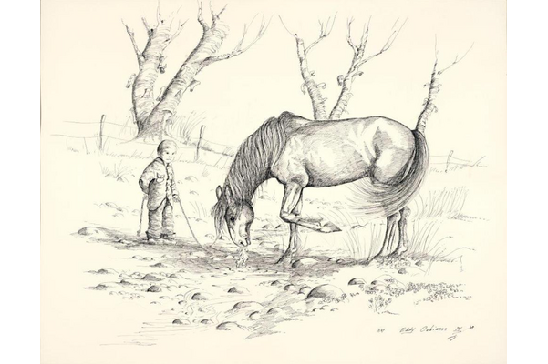 Watering the Horse