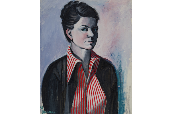 Self-Portrait in with Red Stripes