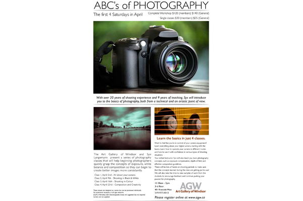 Workshop: ABC's of Photography