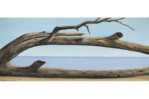 <strong>Mary  Celestino</strong>, <em>Henry&rsquo;s Marsh, Pelee Island, Ont. (aka lost garden, an Eden just after the Fall, Brown's Points, 1995)</em>, 1995, acrylic on canvas, 118.0&nbsp;cm x 279.0&nbsp;cm<br />Gift of the Celestino family, 2018, 2018.018
