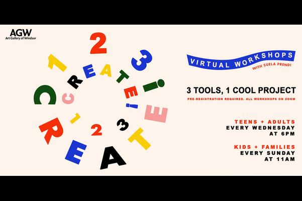 Virtual Workshops: 1,2,3, CREATE!