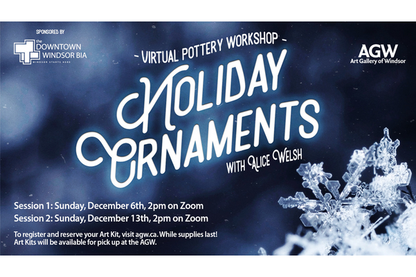 Virtual Pottery Workshop: Holiday Ornaments