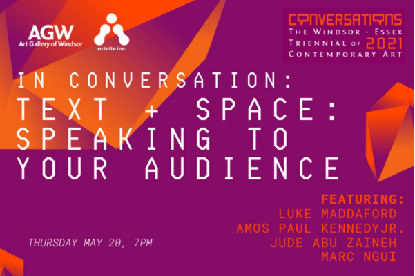 In Conversation: Text + Space: Speaking to Your Audience