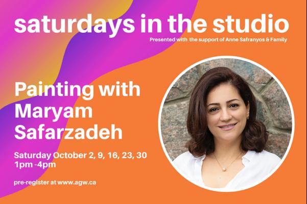 Family Fun Saturdays in the Studio! with Maryam Safarzadeh