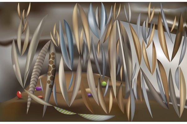 Denis Leclerc,Rimbaud and the ivory traffic, 2013,vector art,44 x 28 cm,Collection particulière