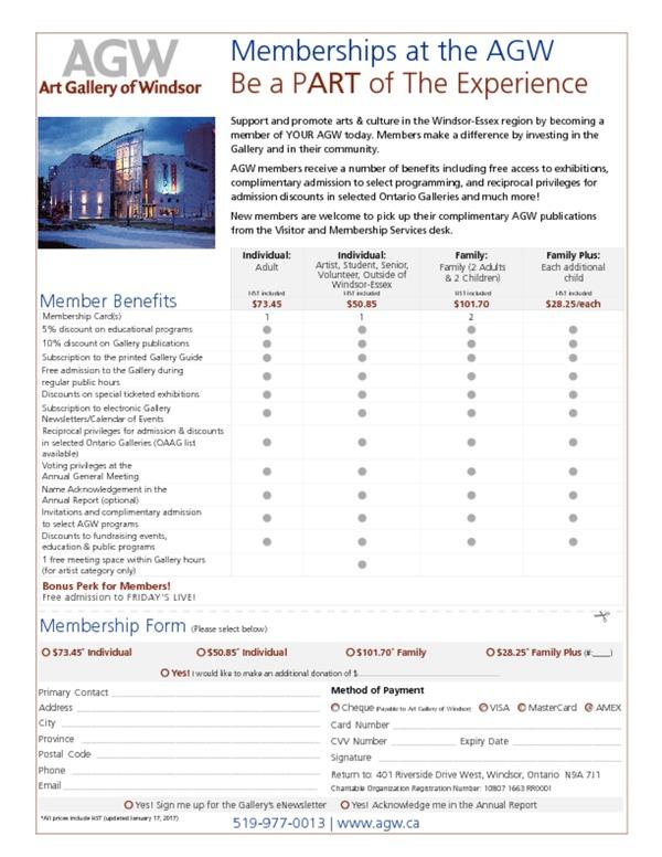 AGW Membership Form